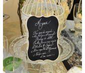Déco de Table Vintage / La tendance du moment : une déco de table vintage et inspiration récup avec du kraft, de la dentelle, des ardoises....
