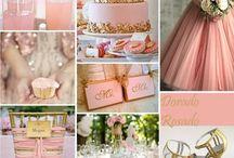 Colour scheme: Pink + Gold