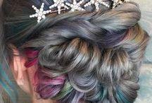 hääkampaus / ideointia et miten ne hiukset sit laittaiskaan the päivänä :)
