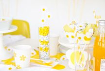 Mood board Yellow party/ décoration fête jaune