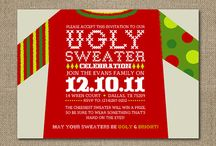 Ugly christmas sweater Party! / Invite