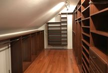 Attic storage closets / Clever closet designs for attic spaces, storage areas above the garage, etc.