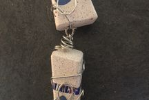 Concrete Jewelry Pendents / Concrete Jewelry Pendants...You may think they're heavy but you'll be surprised how light and comfortable they are! One of a kind handcrafted jewelry made in Montana, USA.  / by James McGregor