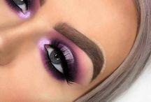 purple eyemakeup