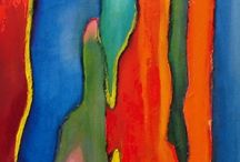 Magic Forest / Latest oil painting collection by Maite Rodriguez, inspired by Rainbow Eucalyptus Trees.