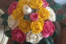 my soap flowers