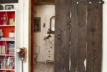 Rustic contemporary river cabin home