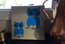 Mes tableaux / J'ai fait ces jolis tableaux !!!