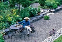 Pea gravel patios
