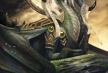 Draken en fantasie wezens