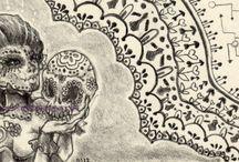 Dia de los Muertos / Day of the Dead sugar skull inspiration.