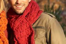 Scarves, shawls, cowls, knit/crochet  cover your neck / by Barb