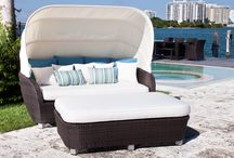 St. Tropez Outdoor Furniture Collection / Our St. Tropez Collection is a beautiful blend of love seats, daybeds, dining tables, and chairs. All designed to fit any contemporary outdoor setting.