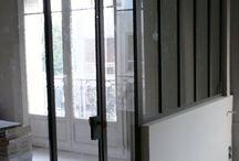 Verrière & escalier métal