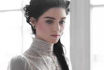 Modern Victorian fashion inspiration / Selection of inspiration images for mod Victorian silk dress