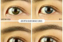 Color contacts / Color contacts over my dark brown eyes