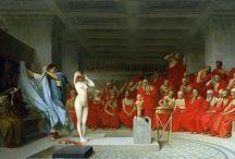 Жан-Леон Жером (1824-1904). / Талант и мастерство Жерома были высоко оценены в 1848 году. Он получил одну из «Римских премий» за картину «Богородица, Младенец Иисус и Святой Иоанн». Но самым большим признанием его, как художника, были многие ученики и группа под названием «Неогреки» – любители греческой неоклассики.