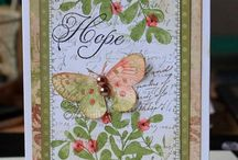 SU An Open Heart / Ousel bird stamp, branch with berries and sentiment stamps.