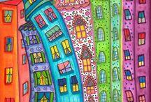 dibuja casas