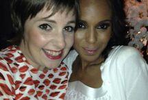 lena Dunham in PJ SS14 emmy party