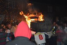Ottery St Mary Tar Barrels / The famous flaming tar barrels and supper at The Rusty Pig - a great night out on Nov 5th!