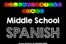 Middle School Spanish Collaborative Board / A Middle School Spanish collaborative board. Want to join this board? Follow me. Then send me an email with your Pinterest url at spanishprep@gmail.com *Limit yourself to three freebie/paid products per day!*