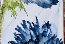 lukisan biru