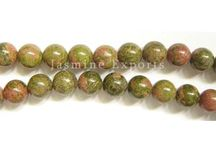 Unakite Faceted Gemstone Beads