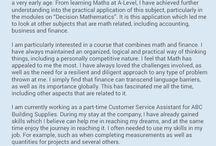 Finance personal statement