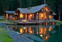 My Mountain Escape | Mountain House Plans / Tucked back deep into the woods, high on a mountaintop, or beside a small creek, you will find mountain house plans like these. Delivering a cozy existence for their owners, these rustic homes and mountain inspired decorating ideas will leave you wanting to hibernate all winter long and enjoy your cozy surroundings.   / by House Plans and More
