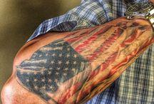 Flag tattoos