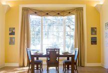 Dining Room / Drapery & lighting ideas for dining room