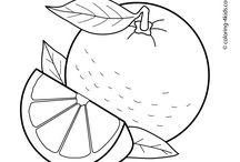 Ovoce, zelenina - omalovánky