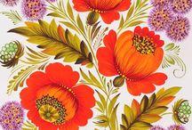 etniczne kwiaty