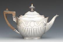 Серебрянные чайники