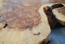 Natural olive tree wood tables