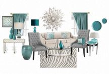 Grey and teal living rooms