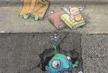 street 3d painting