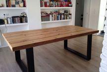 mesas em madeira rustica