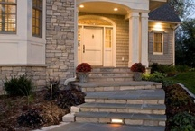 Sloped front entry