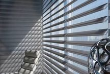 Pirouette® Window Shadings / Our Pirouette® shadings feature soft fabric vanes attached to a sheer backing that appear to be floating, drawing natural light into your room. When closed, they look just like a contemporary shade.