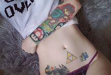 tatuajes otaku *Q*