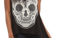 Alternative  / Prints   Leather   Skulls   Black   Studded   Mesh