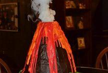 vulkankake med røyk