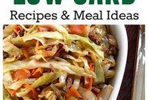 Recipes- low carb meals