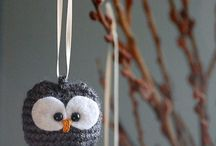 Crochet knit ornaments