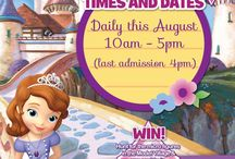 Sofia the First's Treasure Hunt / Disney's Sofia the First is at Southport Model Railway Village this August (2014) with an exciting new treasure hunt.