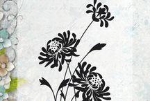 Noor design stempel flowers