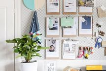 Stylish Pegboards / We love pegboards! Discover great ways to pin your photos and memories with these pegboard ideas.
