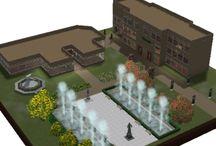 The Sims 2 university lot ideas